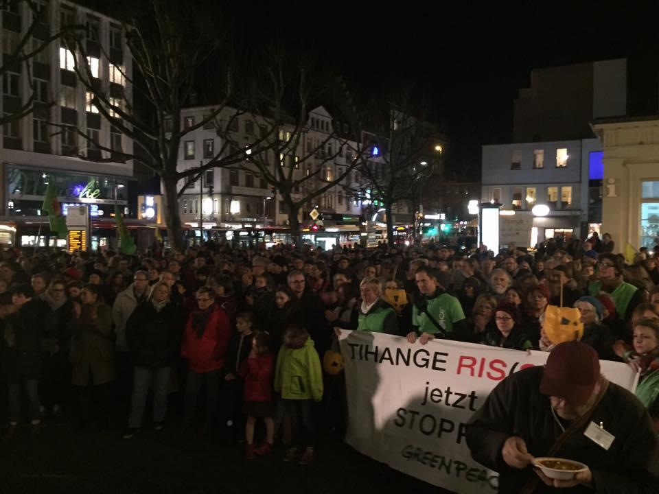 Demo gegen Tihange am Elisenbrunnen 22.12.2015
