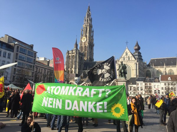 Impressionen der Anti Atom Demo in Antwerpen