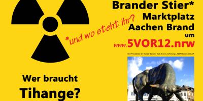 """Wöchentlicher Protest """"5 vor 12 – umweltverträgliche Energiegewinnung"""""""